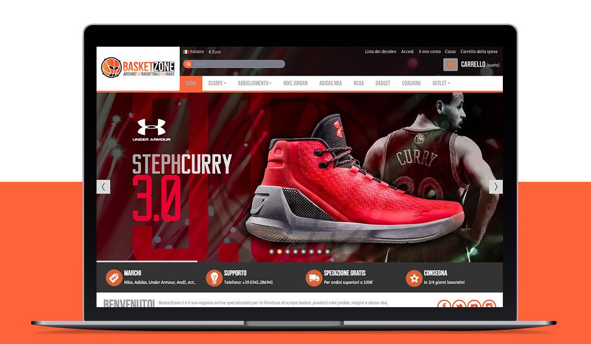 Realizzazione sito ecommerce BasketZone