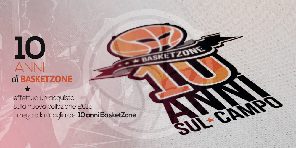 Studio e realizzazione logo 10 anni BasketZone