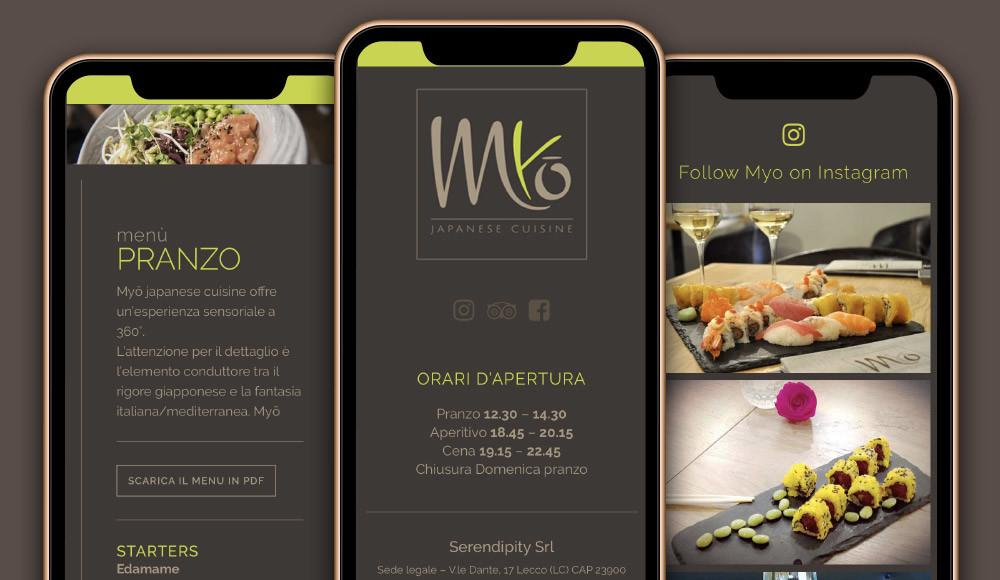 realizzazione sito web ristorante sushi giapponese