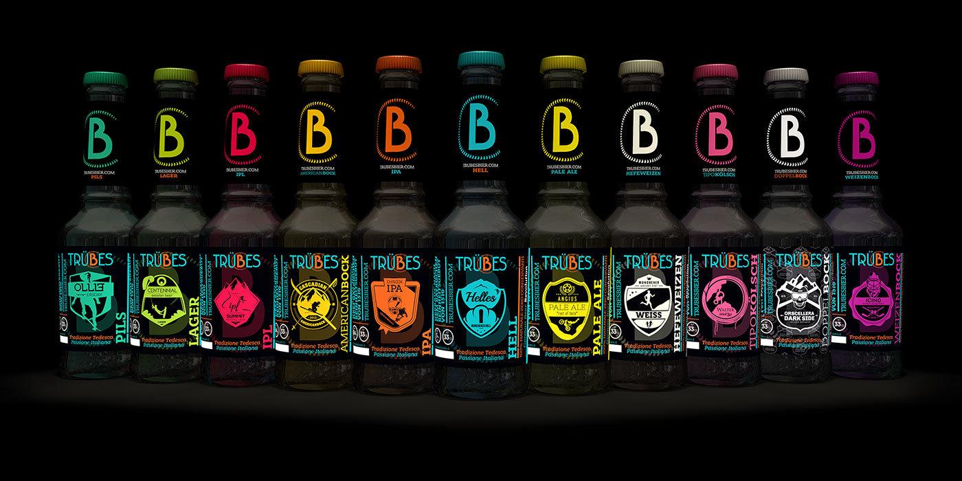 Progettazione grafica e packaging Trubes Bier