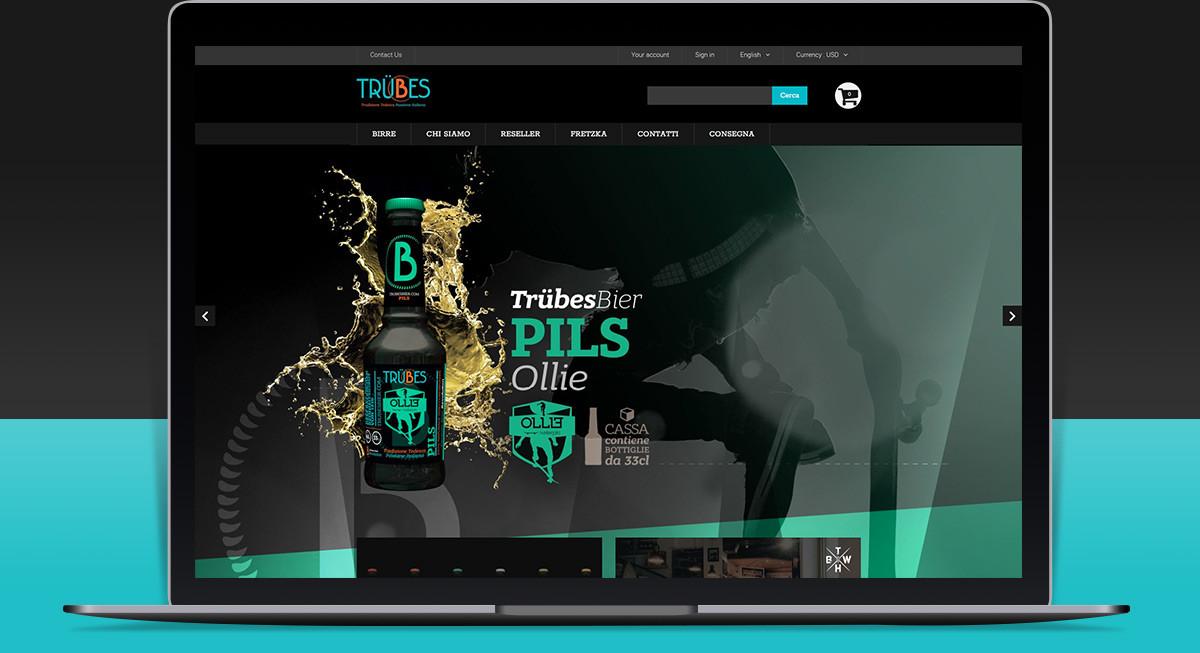 Realizzazione sito ecommerce Trubes Bier