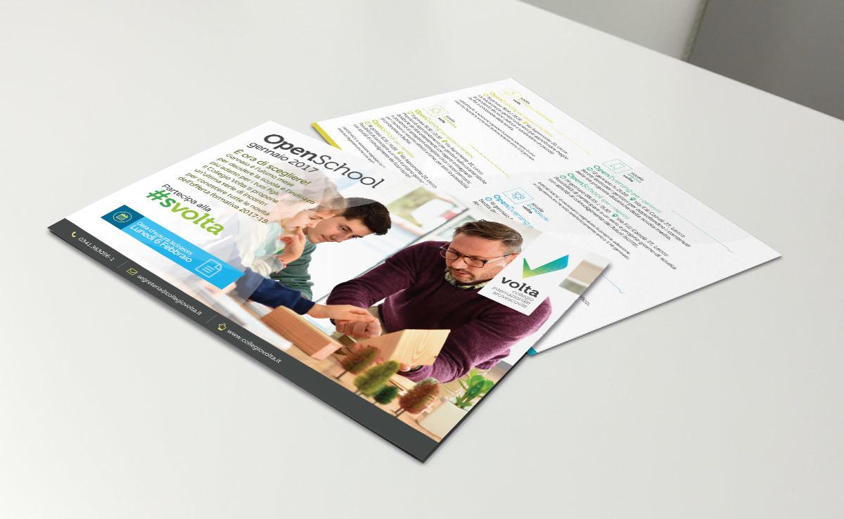 realizzazione flyer promozionale open day scuola paritaria