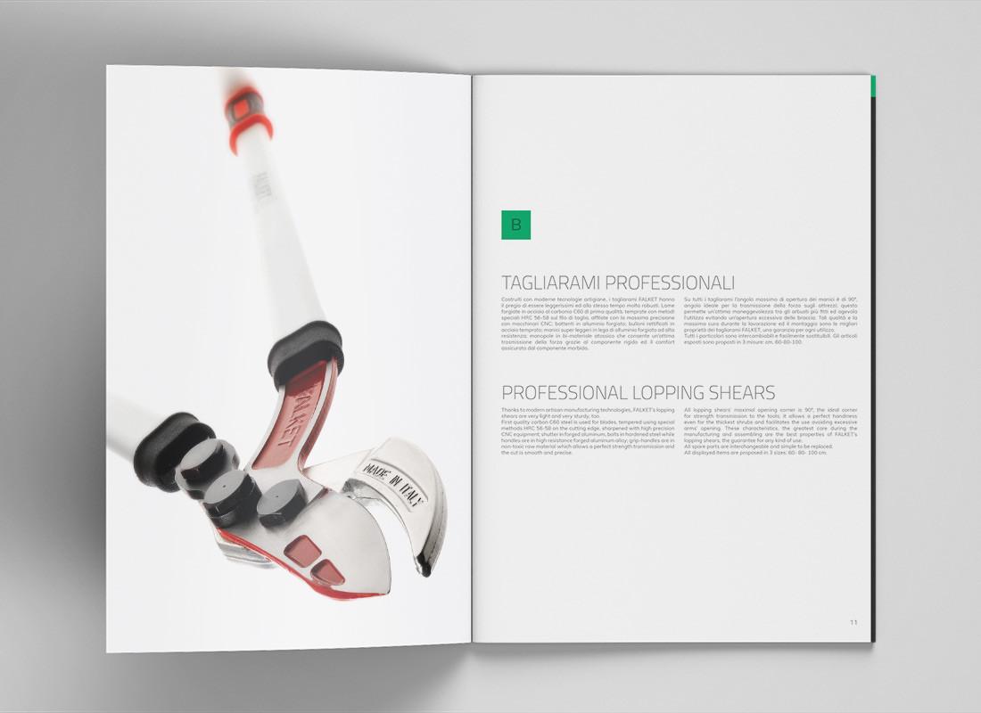 realizzazione catalogo prodotti Falket