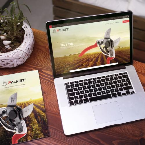 realizzazione logo, sito web e catalogo Falket