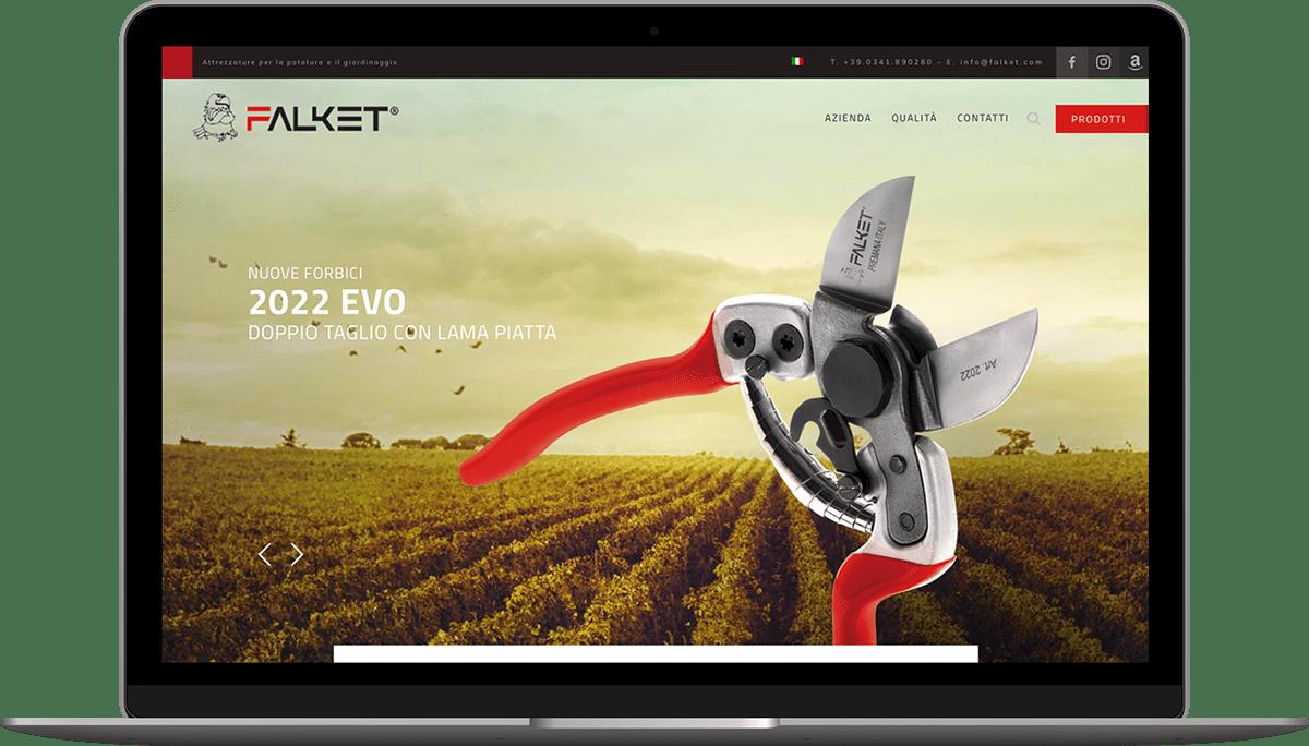 realizzazione sito web prodotti Falket